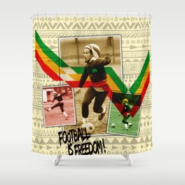 Football is freedom Shower Curtain