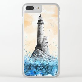 Lighthouse Hope Clear iPhone Case