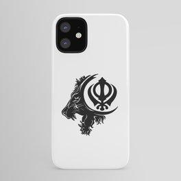 Sikhism Lion Khanda Symbol iPhone Case