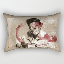he's dead get over it Rectangular Pillow