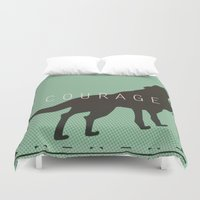 courage Duvet Covers featuring Courage by Laura Santeler