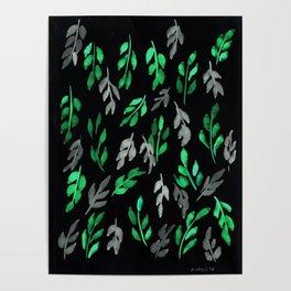 180726 Abstract Leaves Botanical Dark Mode 17|Botanical Illustrations Poster