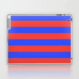 Even Horizontal Stripes, Blue and Red, L Laptop & iPad Skin