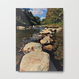 Rock path in the midlle of the river Metal Print