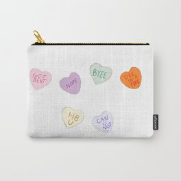 Sketch Candy Hearts Carry-All Pouch