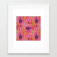 hands Framed Art Prints featuring Hands by LebensART
