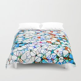 Glass stain mosaic 4 - dots & checkers Duvet Cover