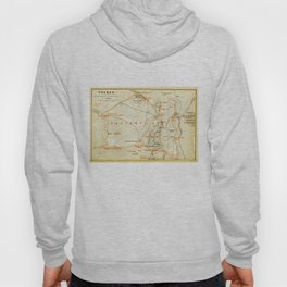 Vintage Map of Thebes Egypt (1894) Hoody