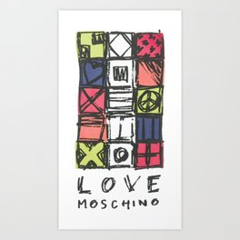 Love moschin moschino new fashion art cute style trend kenzo 2018 2019 color mixed shirt cover Art Print