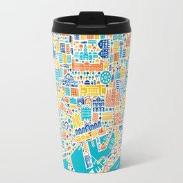 Vianina Barcelona City Map Poster Travel Mug