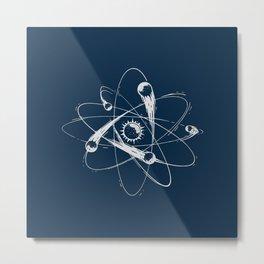 Atomic Meteors Metal Print