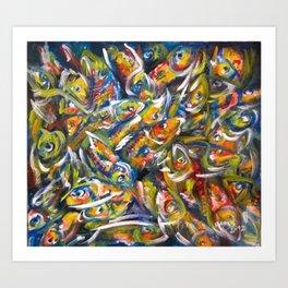Fish Pile Art Print