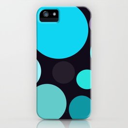Blue and Purple Dots iPhone Case