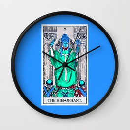 5. The Hierophant- Neon Dreams Tarot Wall Clock