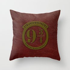 Logo Platform 9 3/4 Throw Pillow