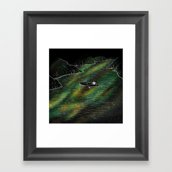 The Space Ship Framed Art Print