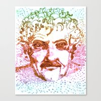 vonnegut Canvas Prints featuring Kurt Vonnegut by Erkin Gören