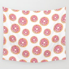 Watercolor Donut Wall Tapestry