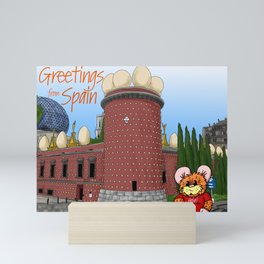 Herbert Hammy's Postcard from Spain (with wording) Mini Art Print