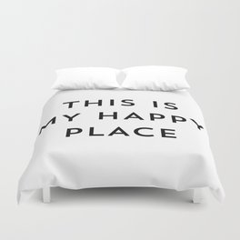 This is my happy place Duvet Cover