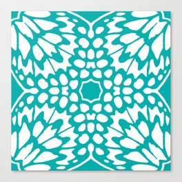 Wings: Turquoise Canvas Print