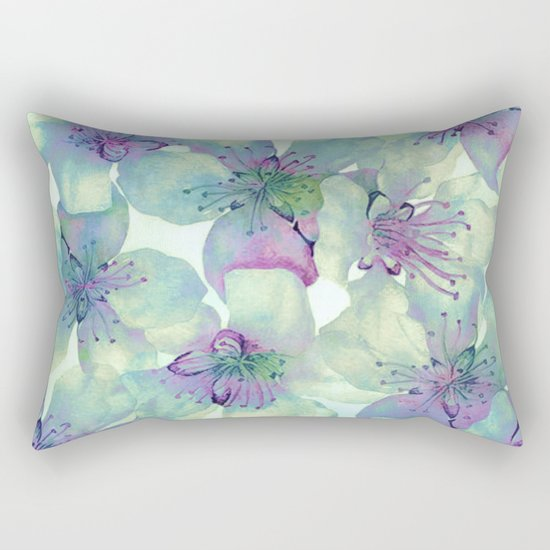 soft floral with purple Rectangular Pillow