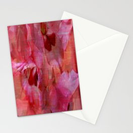 Vintage Pink Gladiola Abstract Stationery Cards