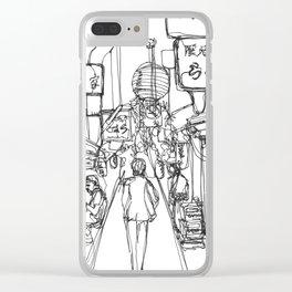 Shinjuku ku, Japan (Continuous Line Drawing) Clear iPhone Case