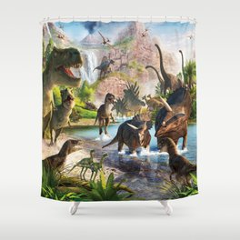 Jurassic dinosaur Shower Curtain