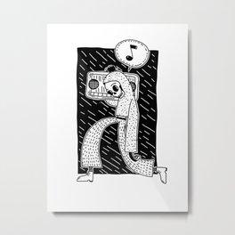 Boombox blckbckgrnd Metal Print