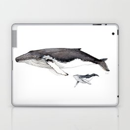 North Atlantic Humpback whale with calf Laptop & iPad Skin