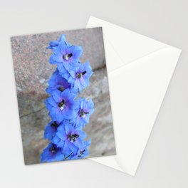 Blue Flowers in Marquette Stationery Cards