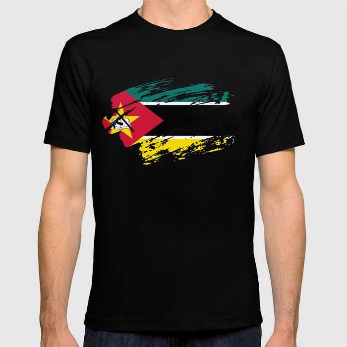 Mozambique Flag Tee T-shirt by shirtasm