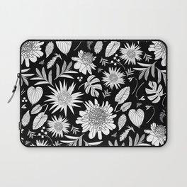TROPICAL FLORAL BLACK & WHITE Laptop Sleeve