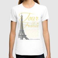 tour de france T-shirts featuring Tour De France Eiffel Tower by Wyatt Design