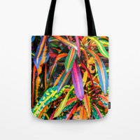 karu kara Tote Bags featuring SIMPLY LEAVES by Catspaws