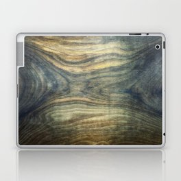 The young boy entrapped inside. Background wooden panel. Laptop & iPad Skin