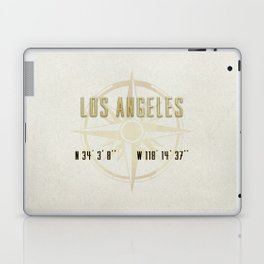 Los Angeles - Vintage Map and Location Laptop & iPad Skin