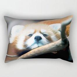 Red Panda Art One Rectangular Pillow