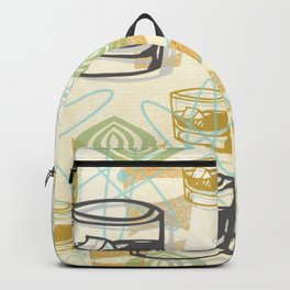 Dad Is Home Retro Midcentury Whiskey Pattern Backpack