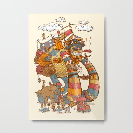 Circusbot Metal Print