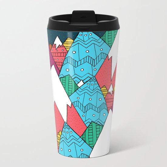 Mountainscape Metal Travel Mug