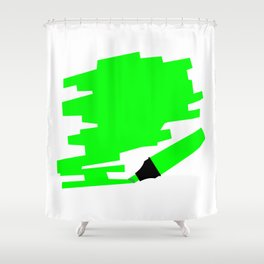 Green Marker Copy Space Shower Curtain