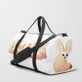 cute fennec foxes. Vector graphic character Duffle Bag