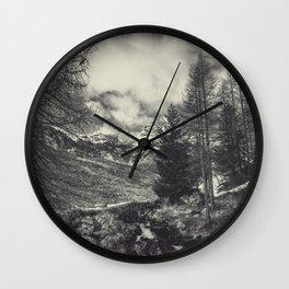 timeless mountains Wall Clock