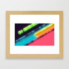 Lanes Framed Art Print