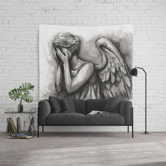Weeping Angel Watercolor Doctor Who Art Wall Tapestry By Olechka | Society6 Part 50