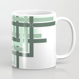 Mint Green Geometric Coffee Mug