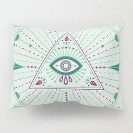 Evil Eye Mandala – Mint Pillow Sham
