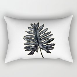Philodendron Monstera Leaf black and gold Rectangular Pillow